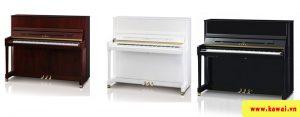 Đàn piano Kawai K300 có nhiều màu sắc